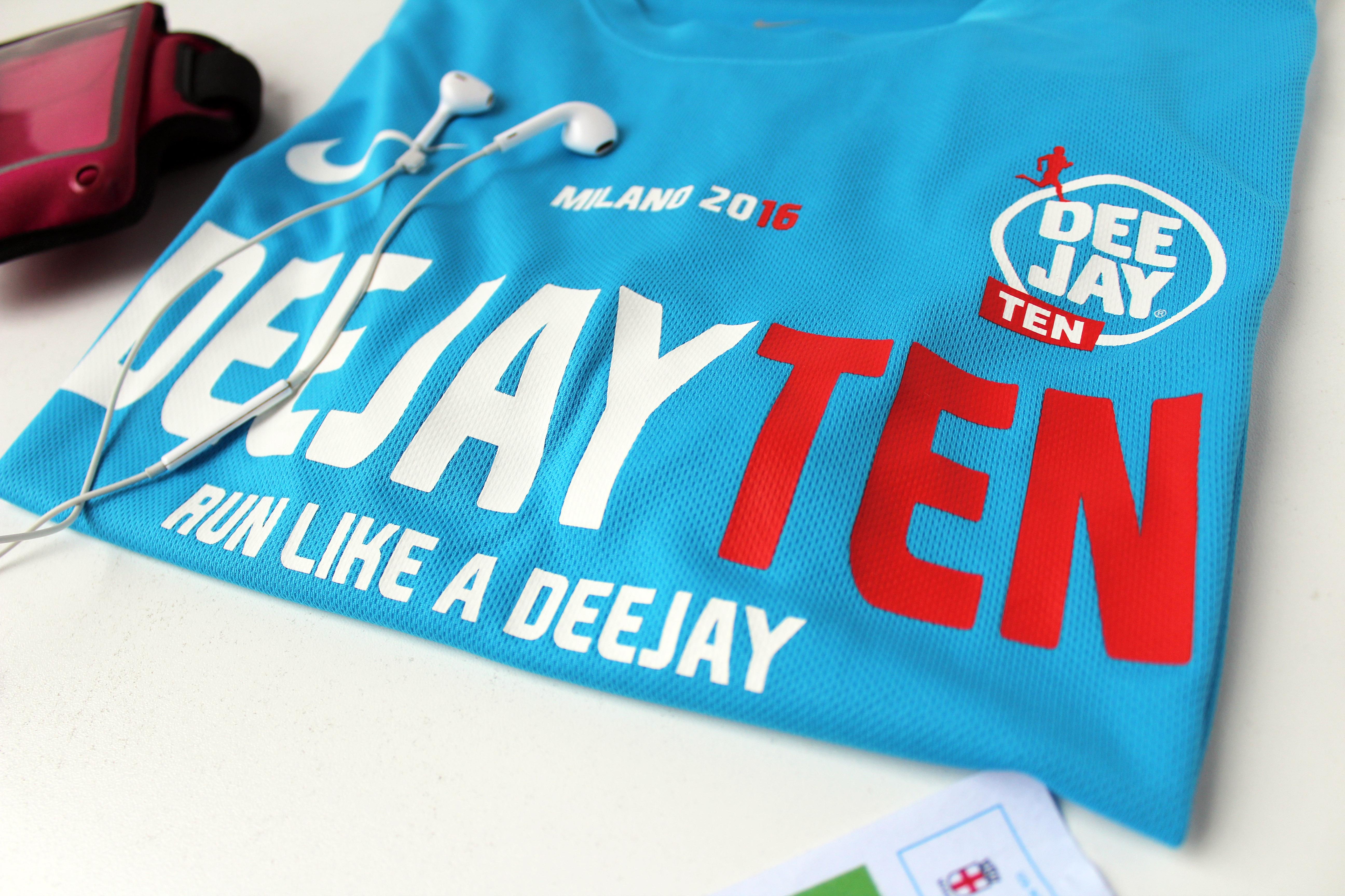 La t-shirt della gara