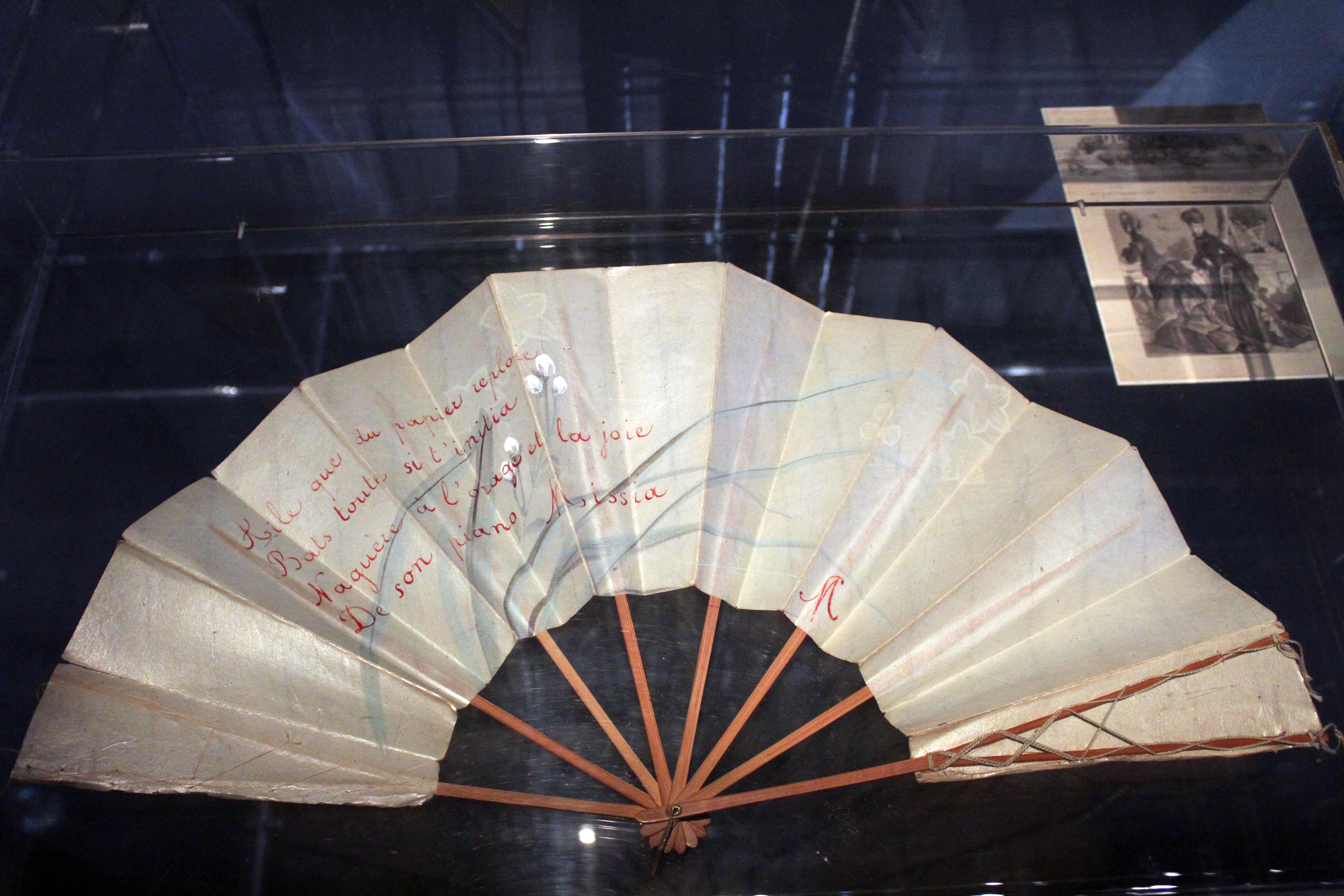 Stéphane Mallarmé - Ventaglio giapponese appartenuto a Misia con una quartina autografa calligrafica.
